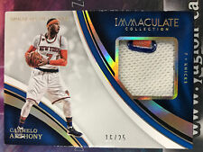 2016-17 Immaculate Collection CARMELO ANTHONY SNEAKER SWATCH CARD #16/25