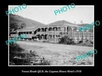 OLD LARGE HISTORIC PHOTO OF NOOSA HEADS QLD, THE LAGUNA HOUSE HOTEL c1938