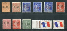 x287 - FRANCE Lot of MILITARY Overprint Stamps. MF . MH / Used