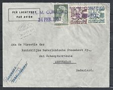 Curacao covers 1937 Returned To Sender Airmailcover to Maracaibo