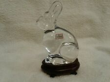 BACCARAT CRYSTAL RABBIT ON FITTED STAND