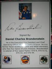 Daniel Brandenstein NASA Astronaut Autograph Signed Bookplate Space Shuttle