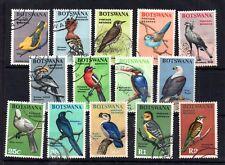 Botswana 1967 Definitive Birds good used set SG220-233 WS11942