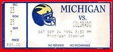 1994 Kordell Stewart Hail Mary Pass TICKET Michigan vs Colorado Westbrook Catch