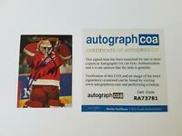 Mike Vernon Detroit Redwings Autographed Signed Hockey Card Goalie ACOA