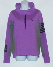 Victoria's Secret Pink Ultimate Yoga Cowl Neck Pullover Marled Logo Jacket XS