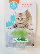 New listing Hexbug Nano Robotic Bug Motorized Cat Toy White & Green