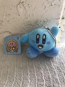 "Blue Kirby Plush Keychain 3"" Japanese writing Nintendo"