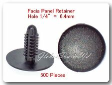"500 Pcs Facia Panel Retainer Christmas Tree 1/4"" 6.4mm Hole For Chrysler 6501067"