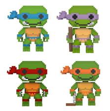 Funko 8-Bit Pop!: Teenage Mutant Ninja Turtles - Set of 4 Vinyl Figures