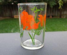"Crystal Libbey Gold Fish Juice Glass / Tumbler 6 oz. 3½"" Tall"