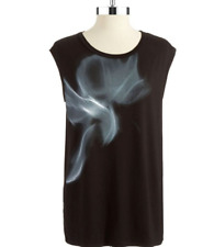 TAHARI Torina Knit Top Women's size Medium Relaxed Fit Dye Style Tank Blouse