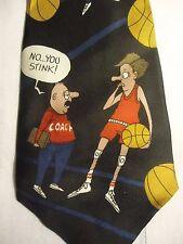 "Richard L Torrey Silk Tie Red Black Basketballs 57"" Sports Bench Warmers"