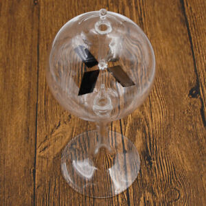 Glass Crookes Radiometer Science Educational Light Mill for Office Home Decor