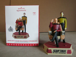 Hallmark Star Trek Captain Jean-Luc Picard Lieutenant Commander Data Ornament