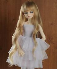 "9-10"" 1/3 BJD Hair SD doll wig Super Dollfie long Curly spadiceous blond blend"