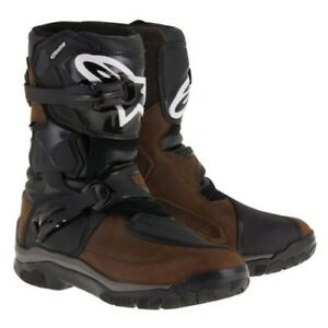 Alpinestars Motorcycle Motorbike Belize Drystar WP Leather Boots Oiled Brown