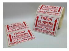 Fresh Flowers Do Not Crush – Handle With Care – Labels Rolls Choose Quantity