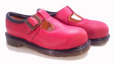 💥 Dr. Martens England Rare Vintage Rouge Red Steel Toe Mary Janes UK6 US8 💥