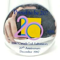 IBM Canada Laboratory 20th Anniversary Vintage Pinback Button Pin 1987
