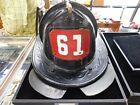 NYFD ladder 61 vintage leather new york city  fire helmet