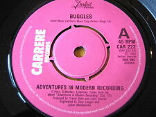 "BUGGLES - ADVENTURES IN MODERN RECORDING  7"" VINYL"