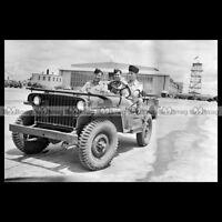 #pha.019241 Photo JEEP 1942 WW2 ROYAL NETHERLANDS MILITARY FLYING SCHOOL JACKSON
