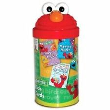 ELMO CARDS IN A TUBE SESAME STREET CARD GAMES COLLECTIBLE CAN - 4 GAMES IN 1