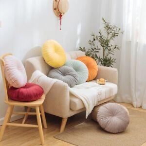 Nordic Velvet Round Sofa Back Cushions Pumpkin Throw Pillows Solid Colors 40cm