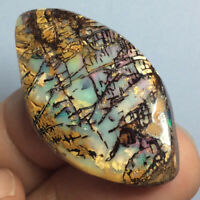42.10ct Rare CATHEDRAL Window Pattern Australian Boulder Opal Wood Stone Fossil