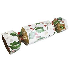 Christmas - Giant Flat-pack Cardboard 'Cracker' Gift Box - Holly