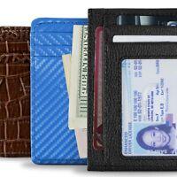 CoreLife RFID Blocking Front Pocket Slim Wallets for Men / Women - Vegan Leather