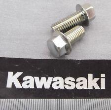 Genuine Kawasaki Tornillo embridado Hex 8mm M8x20mm Acabado Brillante 132G0820 2-Pack