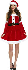Miss Sexy Santa Xmas Christmas Fancy Dress Costume Size 10 - 14 P8033