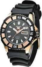 Seiko 5 Sports SRP210 SRP210K1 Mens Automatic Black Dial Rose Gold 100m Watch