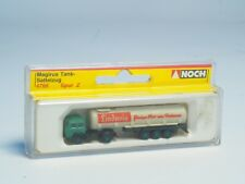 "Z-scale Noch Magirus Semi Truck and trailer with tanker ""Lindavia"" 1:220"