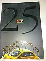 Bburago 1:18, 1:24, 1:43, 25th Anniversary Die Cast Model Car Catalogue 1999