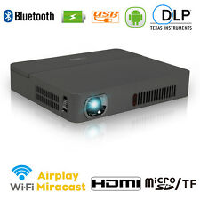 3D Mini Pocket DLP Projector Android Home Theater Bluetooth HDMI USB Intelligent