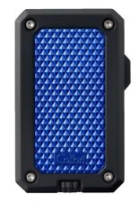 COLIBRI RALLY Single Jet Flame CIGAR LIGHTER - Black & Blue