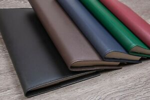 A5 Refillable Journal Notebook Cover DeluxeSmooth Grained Leather Gift New
