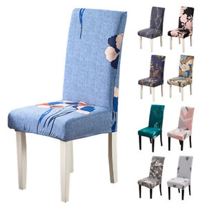 1/2/4/6pcs Stretch Chair Cover Spandex Dinning Room Kitchen Chair Slipcovers