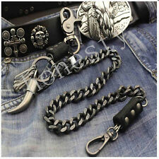 Vintage Mens Heavey Metal Trucker Biker Keychain Key Jean Wallet Chain Xmas Gift