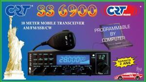 CRT SS-6900 V6-RTX MOBILE HF 10 METRI AM/FM/SSB ALL MODE (10/11/12 MT EXPORT)