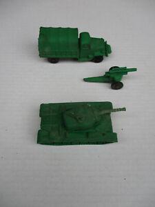 Auburn Rubber Military Vehicle Lot Tank Truck Artillery Vintage Original WW2