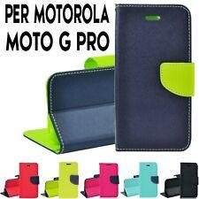 Custodia per Motorola Moto G PRO Cover Tpu libro portafoglio chiusura magnetica