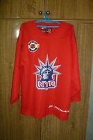 New York Rangers Pro Player NHL Practice Training Hockey Jersey Red Men Size M