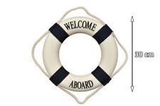 small blue 30cm life ring lifebuoy nautical ship boat decorative wall hanging