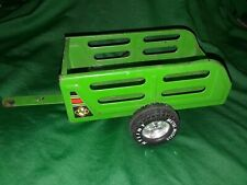 Vintage 1970s Nylint Farms Pressed Steel Green Trailer