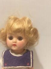 Vtg Cosmopolitan Doll Blonde Blue Eyes original Dress walker Bendable Knees rosy