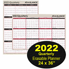 2022 Quarterly A123 At A Glance Dry Erase Wall Calendar 24 X 36
